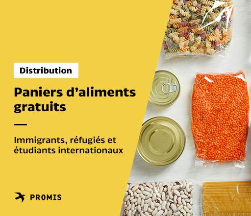 Distribution de panier pour les immigrants