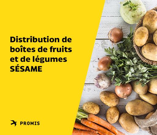 Distribution de boîtes de fruits et légumes SÉSAME