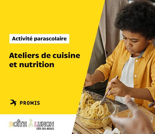Ateliers de cuisine et nutrition pour enfants gratuits!