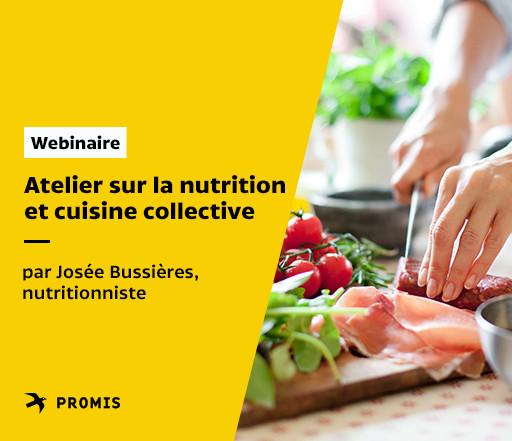 Atelier sur la nutrition et cuisine collective de PROMIS