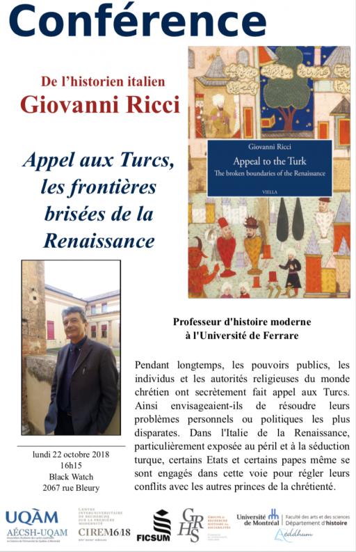 Conférence de l'historien italien Giovanni Ricci