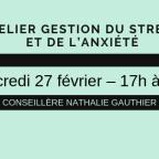 Atelier - Gestion du stress et de l'anxiété