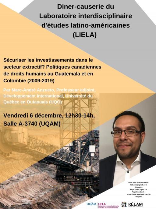 Diner-causerie du Laboratoire interdisciplinaire d'études latino-américaines (LIELA)