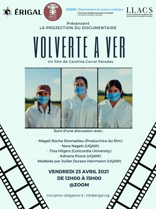 Projection du documentaire mexicain «Volverte a ver» pour la première fois avec des sous-titres en français