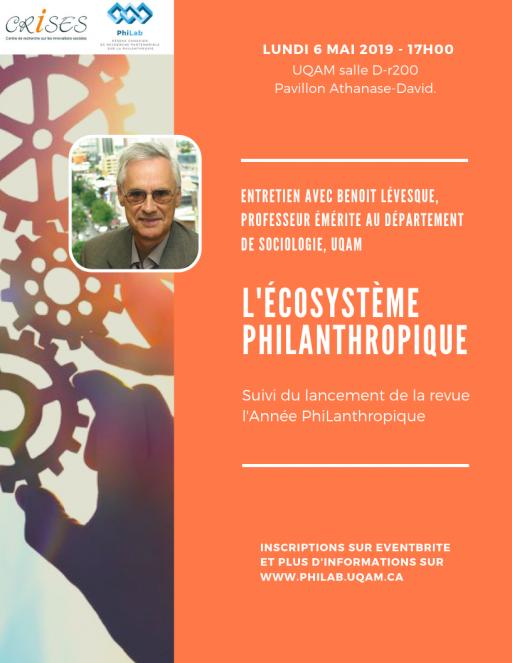 L'Écosystème philanthropique – entretien avec Benoit Lévesque