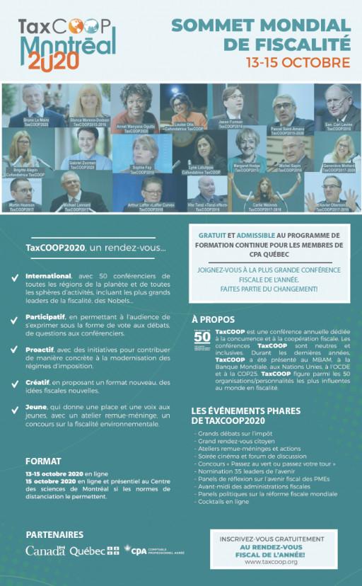 TAXCOOP 2020 - Sommet mondial de fiscalité (en ligne)