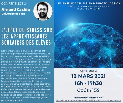 Les enjeux actuels en neuroéducation : l'effet du stress sur les apprentissages scolaires des élèves