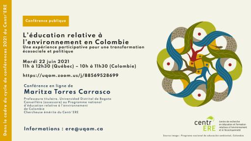 L'éducation relative à l'environnement en Colombie : Une expérience participative pour une transformation écosociale et politique