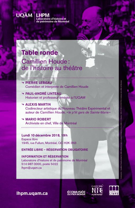 Camillien Houde: de l'histoire au théâtre