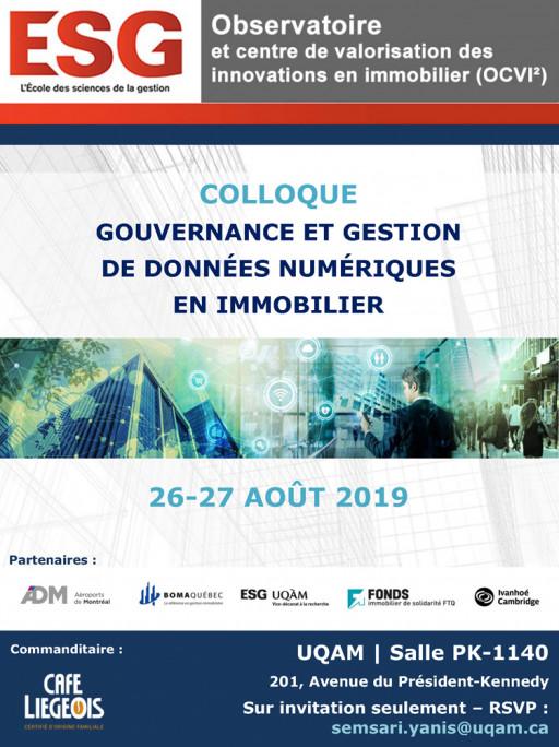 Colloque | Gouvernance et gestion de données numériques en immobilier
