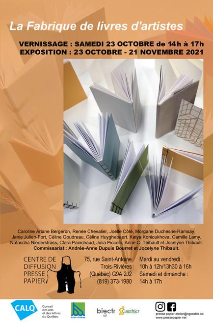 «La Fabrique de livres d'artistes». Anne C. Thibault, chargée de cours à l'EAVM