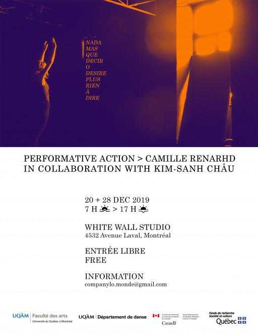 Performance: Camille Renarhd: «Nada_mas_que_decir_o_desire_plus_rien_à_dire»