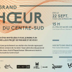 Le Grand Choeur du Centre-Sud (inscriptions)