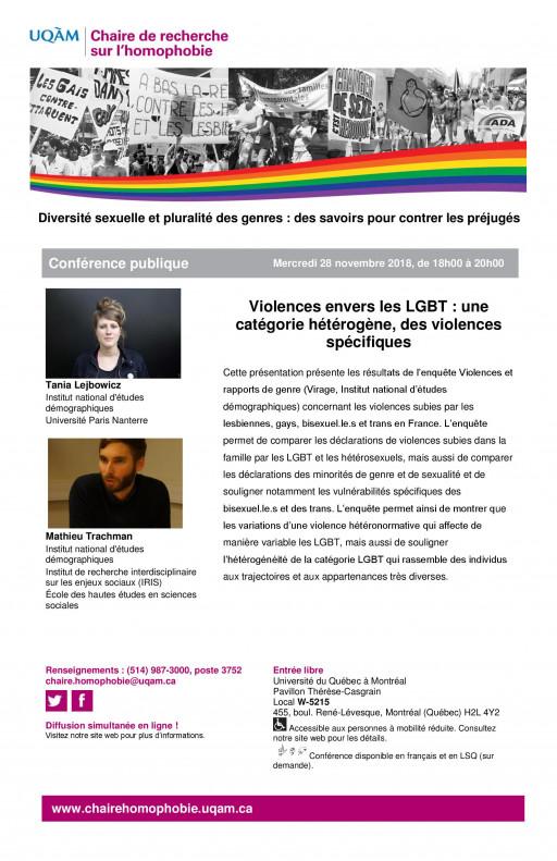 Violences envers les LGBT : une catégorie hétérogène, des violences spécifiques