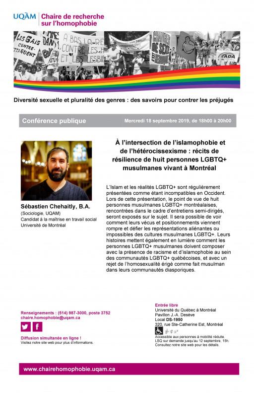 À l'intersection de l'islamophobie et de l'hétérocissexisme : récits de résilience de huit personnes LGBTQ+ musulmanes vivant à Montréal